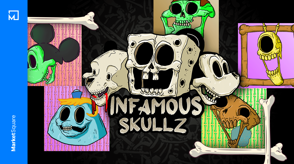 Infamous Skullz - Animated Character NFT Anthropology Banner