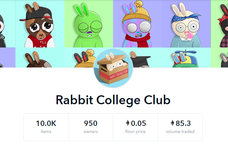 Rabbit College Club - The NFT Drop that Broke Ethereum Banner