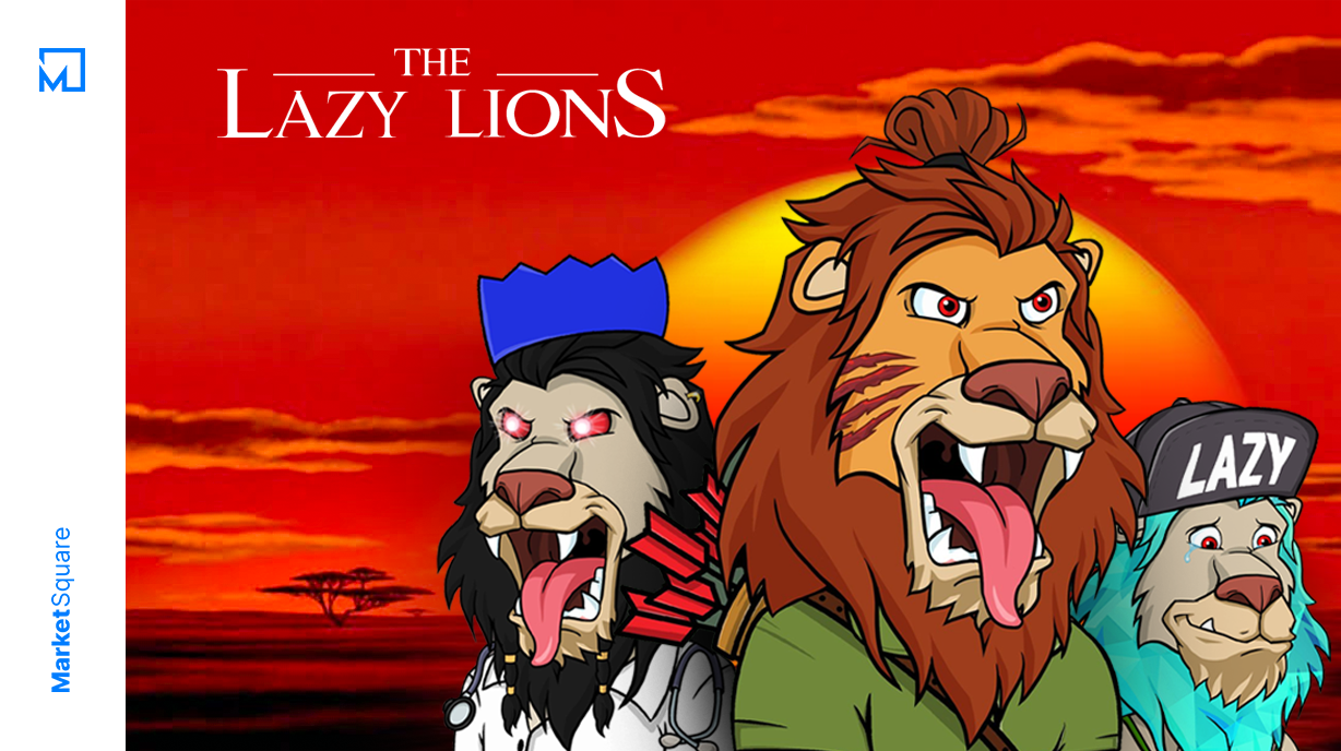 Lazy Lions - The Pride of NFTs Banner